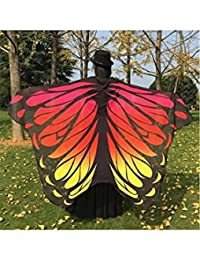 ELECTROPRIME Gradient Color Chiffon Butterfly Wing Cape
