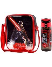 Star Wars 'The Dark Side' Darth Vader bolsa para el almuerzo/caja y Tritan Hidratación Botella (500ml)