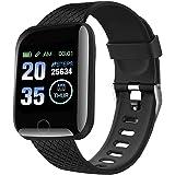 FITOYA Smartwatch Orologio Fitness Sportivo Donna Uomo Impermeabile Smart Watch Cardiofrequenzimetro Contapassi da Polso Moni