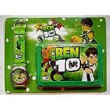 SS - Juego de reloj y cartera, diseño de Hello Kitty, Angry Birds, Spiderman, Ben 10, Minions