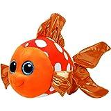 TY 37072 - Sami - Clownfisch Pluschtier mit Glitzeraugen  Glubschi's  Beanie Boo's, 42 cm