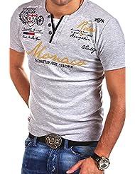 MT Styles - R-2238 - T-shirt 2 en 1 - inscription « Monaco » et imprimé