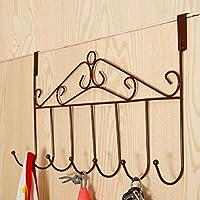 Porta Ganci Porta appendiabiti 5ganci appendiabiti da parete, Style C (Bronze)