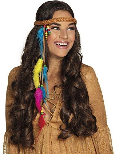 Faschingsfete - Indianer Kostüm Haarreif mit Federn und Perlen Haarband, (Toys R Kostüme Halloween Us Bei)