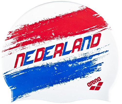 arena Badekappe Silikon Print 2, Herren, Herren, Silicona Print 2, Mehrfarbig (Flagge/Niederlande)