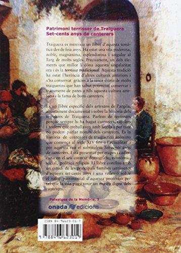 Patrimoni terrisser de Traiguera: Set-cents anys de canterers (Paisatges de la Memòria)