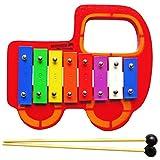Keepdrum Kinder Glockenspiel Bunt Auto aus Holz
