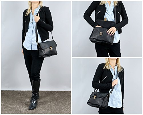 LECONI Schultertasche Leder Umhängetasche Damentasche Handtasche für Damen