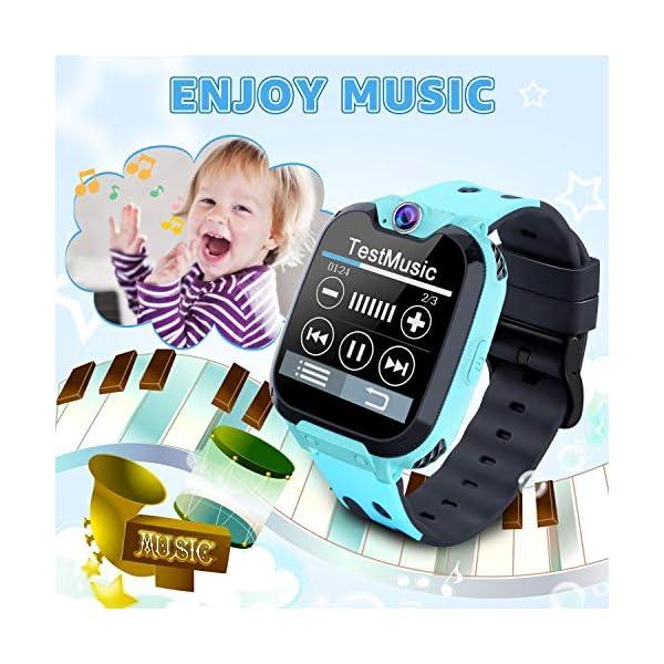 Reloj GPS Niños Smartwatch Phone - Reloj de Pulsera Inteligente con Ubicación GPS LBS Reloj con Call Voice Chat SOS… 5