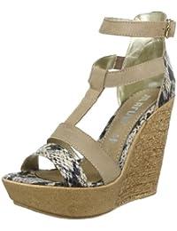 Maruti Aviano tan combi leath/synth 66.30216.2038 - Zapatos de pulsera de cuero para mujer