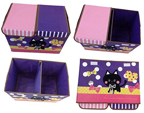 Diseño Juguete Caja con bordado gato caja juguete caja almacenamiento Contenedores Niños Muebles