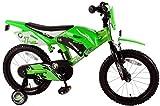 Vélo enfants 16 pouces roues de stabilisation vert âge 4 5 6