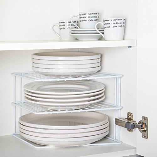 Corner Add A Shelf Plate Rack, K...