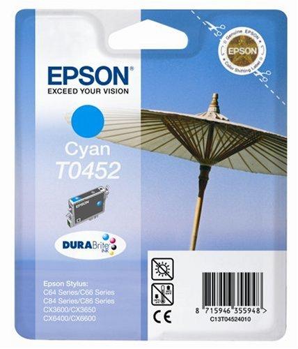 Preisvergleich Produktbild Epson T0452 Sonnenschirm, wisch- und wasserfeste Tinte (Singlepack) cyan
