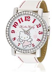 Hello Kitty Mädchen-Armbanduhr Makurazaki White Analog Quarz Kunstleder HK3174-111