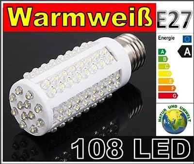 LED Lampe 96 LED Energiesparlampe Led Birne Leuchtmittel - E27 *Warmweiss* 6W