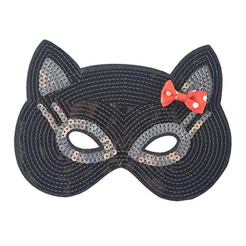DingLong Halloween Maske für Mädchen Kinder, Tiermaske Cartoon Maske Halbe Gesichtsmaske, Kostüm Party Süß Niedlich Dress-Up, Schmetterling Hase Katzen Maske Karneval Verkleidung Maskenball Unfug - Niedliche Kostüm Dress Up