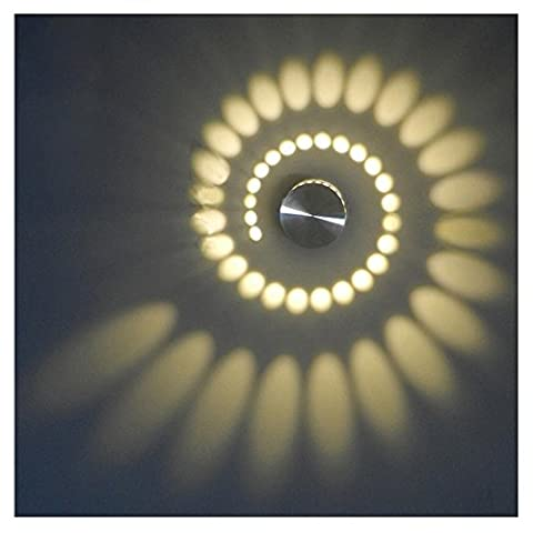Dazzling Sun Flower Spiral 3W High Power LED Bulb Wall Light Fixture Hotel Bedroom Lobby Walkway House Lamp