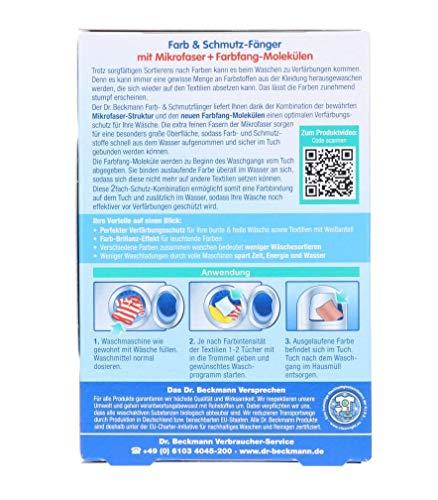 Dr. Beckmann Farb & Schmutzfänger | langanhaltender Farbschutz | mit Mikrofaser und Farbfangmolekülen für Farbbrillianz (44 Tücher)
