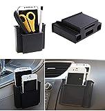#8: Luvina Multifunctional Mini Car Cell Phone Holder Black Mobile Phone Charge Box Holder Pocket Organizer Car Seat Bag Storage 2 pcs(Black)