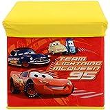 Baby Grow Children's Toy Box Kids Storage Bench Folding Stool Under Lid Toy Chest Organizer (Cars)