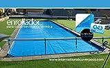 International Cover Pool - Avvolgitore per telo solare / termico piscina, telescopico, max 6,45 m, acciaio Inox e alluminio