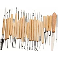 Modellierungswerkzeug - TOOGOO (R) Packung mit 22 Bildhauer Polymer Tonkeramik Keramik Nadel Sculpting Modellierungswerkzeug