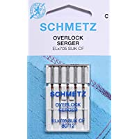 Schmetz lot de 5 aiguilles pour machine à coudre surjeteuse machines eLx705 sUK cF épaisseur 80/12