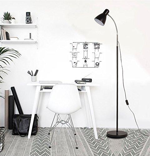 FGLDD Lampadaire noir oeil LED chambre chevet salon étude lampe bureau à domicile pêche lampadaire taille: 25 * 155 cm