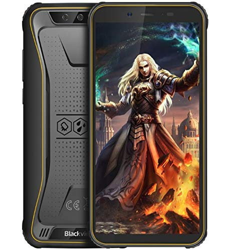 "Blackview BV5500 Pro Robustes Telefon Android 9.0 Outdoor-Smartphone Ohne Vertrag, IP68 wasserdicht 4G Dual-SIM-Handy, 5,5\""HD + Quad-Core 1,5 GHz 3 GB + 16 GB 5MP+8MP, 4400 mAh Akku GPS/NFC Gelb"