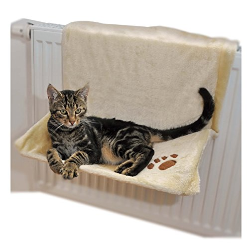 radiator cat bed trough radiator cat bed cat hammock in beige and brown radiator cat bed trough radiator cat bed cat hammock in beige      rh   mypetsuperstore co uk