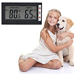 Rrimin New Digital LCD Thermometer Hygrometer Humidity Temperature Meter Pet Thermomet