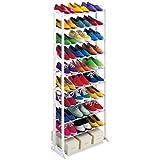 SHOP STORY - Meuble Organisateur Range Chaussures 25/30 Paires Étagère Placard Armoire