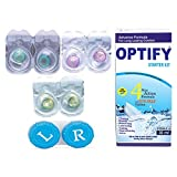 #10: Optify Aqua-Voilet-Green Monthly Color Contact Lens (Zero Power, Aqua-Voilet-Green)