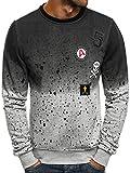 OZONEE Herren Sweatshirt Langarmshirt Sweatjacke Motiv Pullover Aufdruck Pulli J.Style DD13
