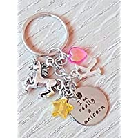 Handmade Personalised Initial Letter Red Minnie Mouse Inspired Keyring Bag Charm