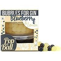 Burbujas POPABALL Doble Tarro De arándano azul y limon - Para La Ginebra, Prosecco, Cócteles y Batidos