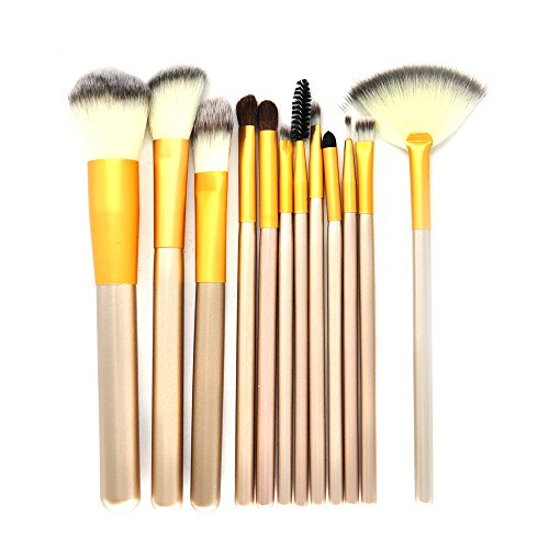 DaySing Brosse Makeup Brushes,Professionnelle Kits ,12Pcs Maquillage Set Pinceau Professionnel Visage Fard à PaupièRes Eyeliner Base Makeup Brushes Brush Beauté Maquillage
