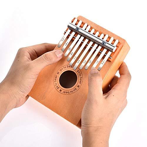 bearivt Kalimba 10 Schlüssel Holz Daumen Finger Klavier Musikinstrument Kinder Spielzeug 16x11x5 cm