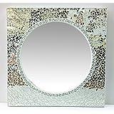 Specchio quadrato in mosaico,cristallo rotondo,cm80x80