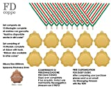 FDCOPPE MEDAGLIA IN METALLO Ø 50mm. DI DIAMETRO SET 10 PEZZI COMPLETE DI NASTRINI ED INCISIONE PERSONALIZZATA COMPRESA NEL PREZZO (1 - COLORE ORO)