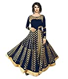 #10: Shoppingover salwar suits for women anarkali party wear material - Blue Color