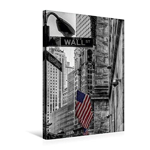 Calvendo Premium Textil-Leinwand 50 cm x 75 cm hoch, New York - Wall Street | Wandbild, Bild auf Keilrahmen, Fertigbild auf echter Leinwand, Leinwanddruck: New York - Wall Street - ColorKey Orte Orte