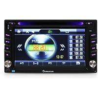 "auna MVD-480 autorradio con pantalla táctil TFT de 6,2"" (DVD, Bluetooh, USB, microSD frontal, reproductor multimedia, MP3, MP4, RDS, FM, AM, memoria para emisoras, micrófono)"