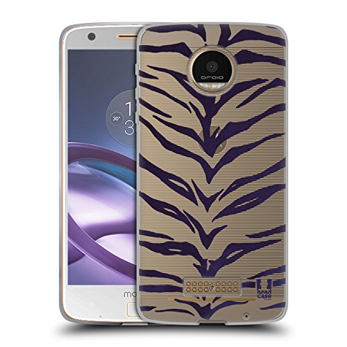 Head Case Designs Tiger Wilde Drucke Soft Gel Hülle für Moto Z Force / Z Force Droid (Force-tiger Ultra)
