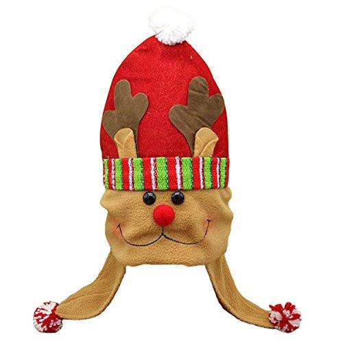 OULII Weihnachten rentier Hut Kinder Weihnachtsmütze Weihnachten Kostüm Deko Kopfschmuck Geschenke für Kinder Erwachsene