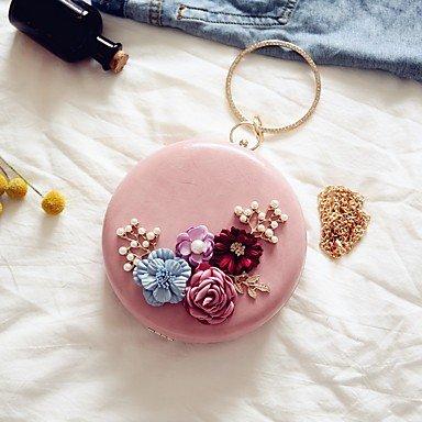 Frauen Abend Tasche PU All Seasons Event / Party Party & Amp; abends Datum Kreis Magnetische blass rosa Schwarz Weiss Pale Pink