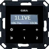 Gira 228405 Radio encastrée RDS sans système de haut-parleur Verre Noir