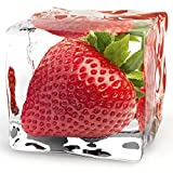 Eurographics DG-AU2129 Glasbild Deco Glass Iced Strawberry  20 x 20 cm