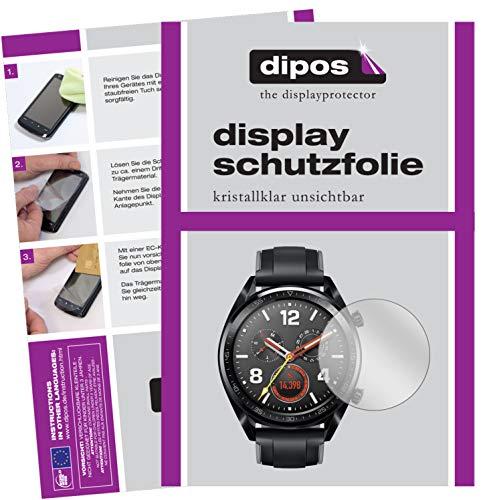 dipos I 6X Schutzfolie klar passend für Huawei Watch GT Folie Bildschirmschutzfolie